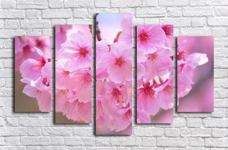 Модульная картина Розовые цветы