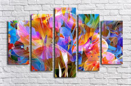 Модульная картина Цветовая абстракция