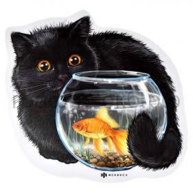 Коврик для мыши Черный кот ПВХ 210х200мм 53070
