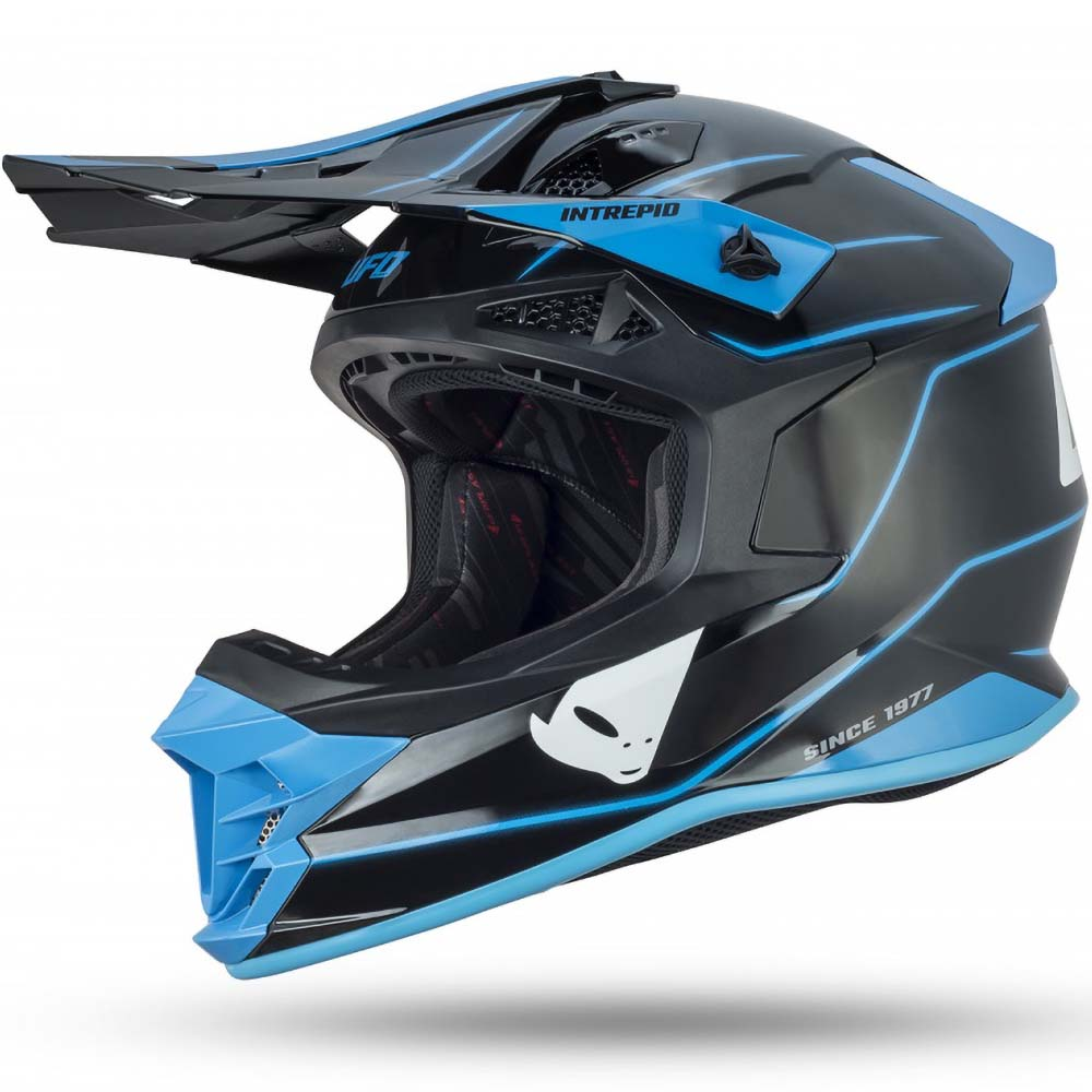 UFO Intrepid Helmet Black/Blue шлем для мотокросса, черно-синий