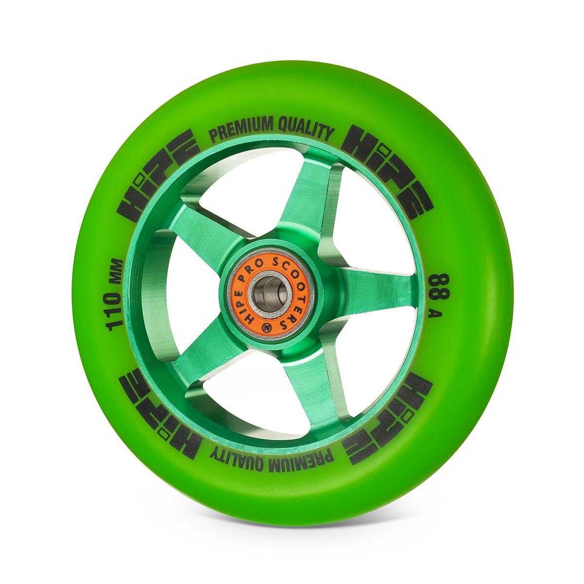 Колесо HIPE H09 110мм зеленый