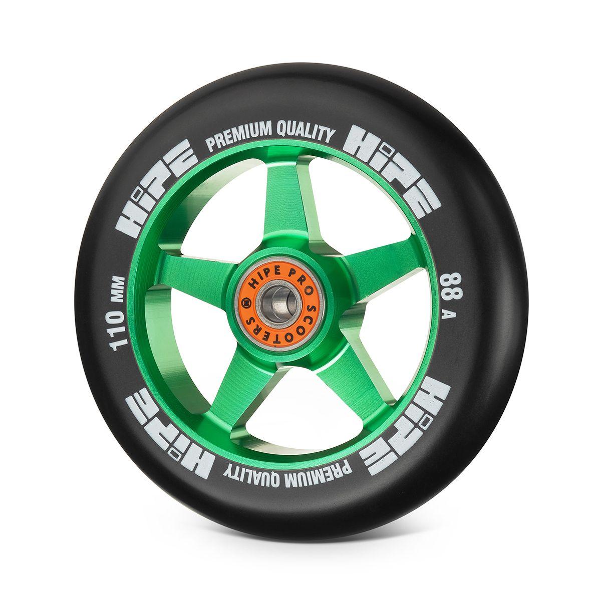 Колесо HIPE H09 110мм зеленый/черный
