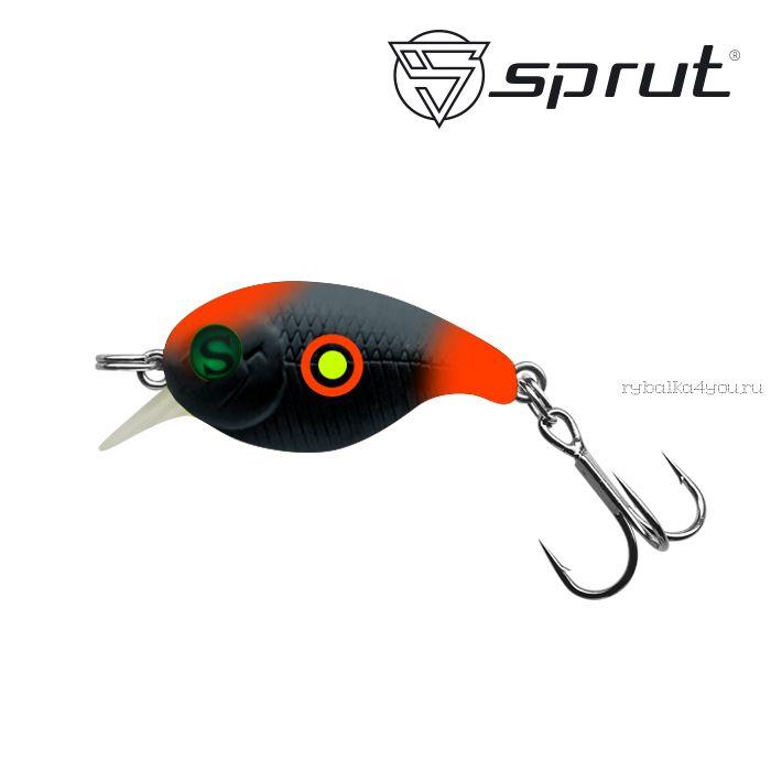 Воблер Sprut Chibi Crank 28F 28 мм / 2 гр / Заглубление: 0,1-0,6 м / цвет: MBKRD