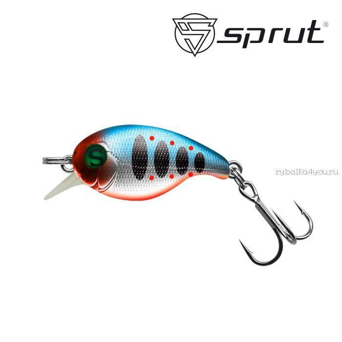 Воблер Sprut Chibi Crank 28F 28 мм / 2 гр / Заглубление: 0,1-0,6 м / цвет: SBTR1
