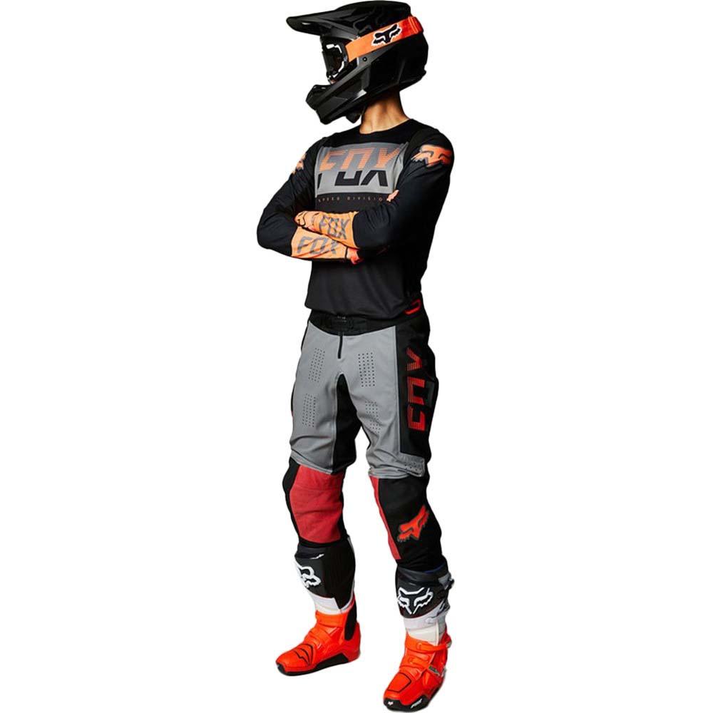 Fox 2021 360 Afterburn Black джерси и штаны для мотокросса