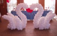 Фигура из шаров «Лебеди на свадьбу» 160 см