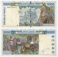 Французская Западная Африка, Сенегал  - 5000 франков 1999 год