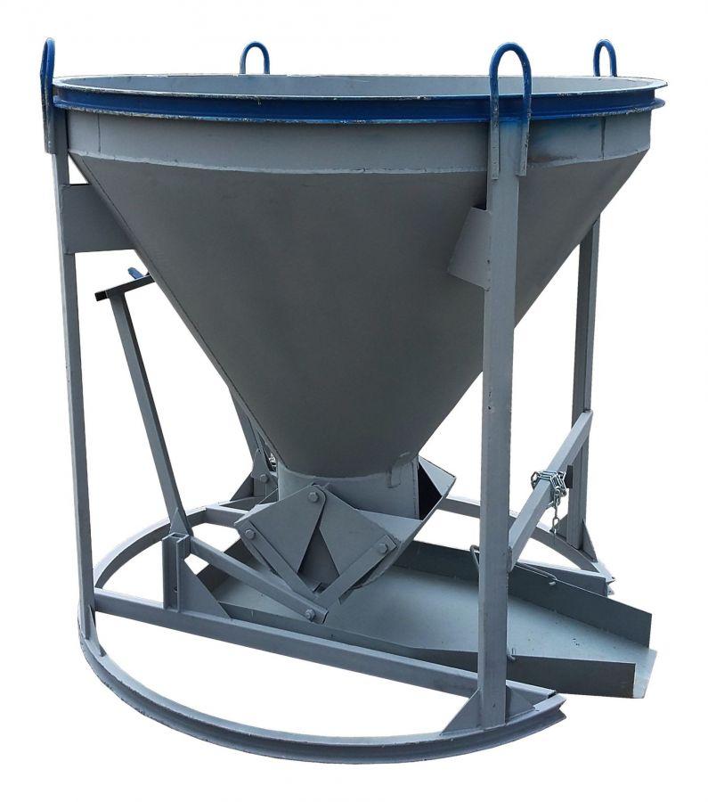 Бадья для бетона «Рюмка» 1,5 (БН-1,5) Pro, с лотком  600х1500 мм