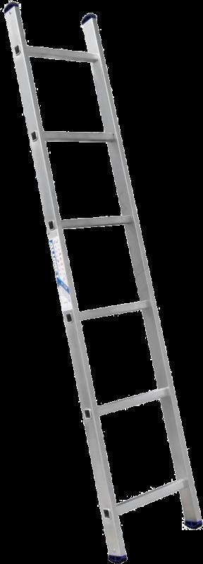 Лестница 1-секционная алюминиевая TOR SC1006  1*6 приставная