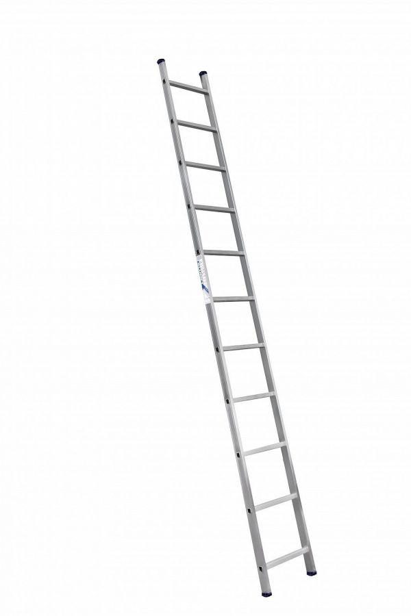 Лестница 1-секционная алюминиевая TOR SC1011  1*11 приставная