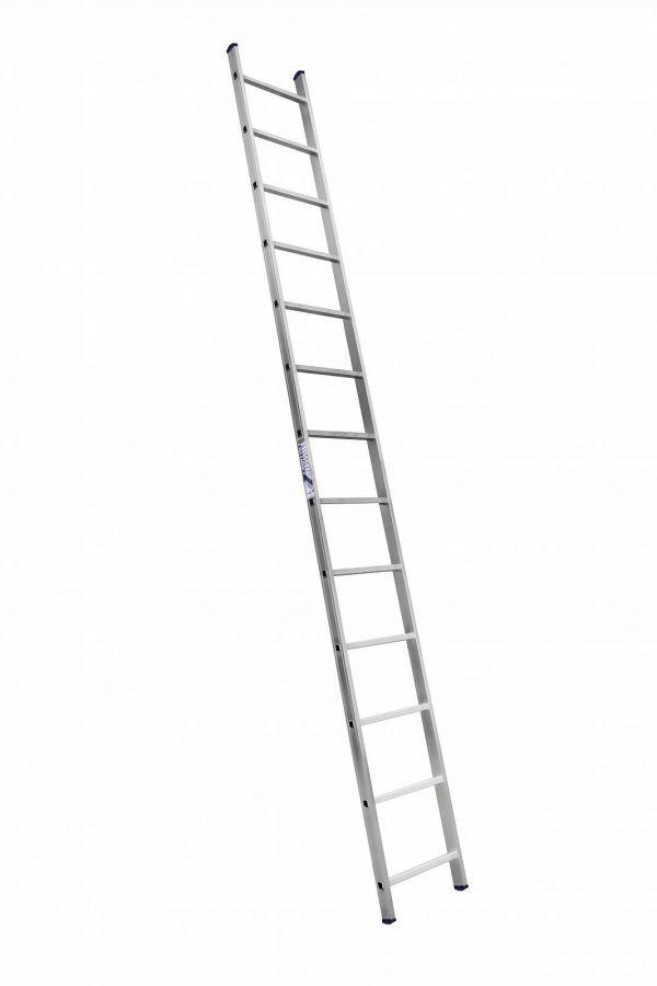 Лестница 1-секционная алюминиевая TOR SC1013  1*13 приставная