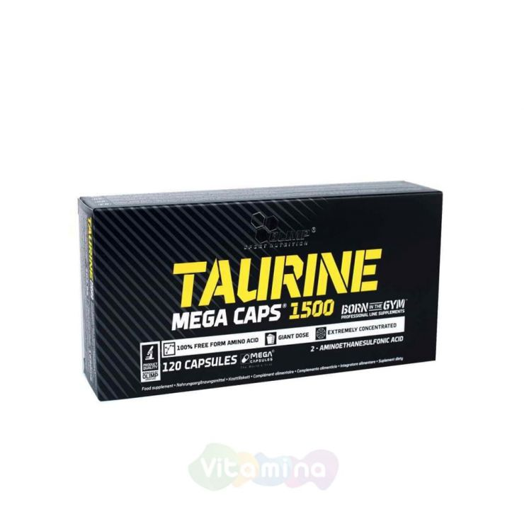 Olimp Taurine Mega Caps 1500 мг, 120 капс.