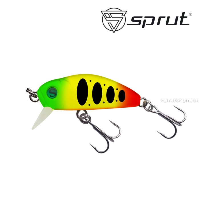 Воблер Sprut Taburo Trout 35S  35 мм / 2,7 гр / Заглубление: 0,1-0,5 м / цвет: PPJ1