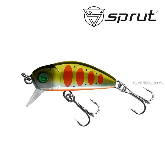 Воблер Sprut Taburo Trout 35S  35 мм / 2,7 гр / Заглубление: 0,1-0,5 м / цвет: SGRTR3