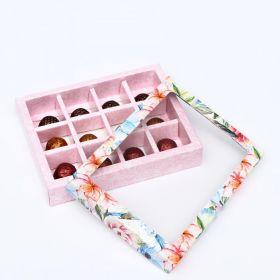 """Коробка для конфет, 12 шт, """"Летний букет"""", 19 х 15 х 3,6 см"""