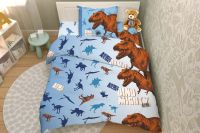 Поплин [голубой] Animal planet 7614/1 Тинейджер постельное белье