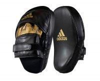 Лапы Adidas Training Curved Focus Mitt Short черно-золотые,  артикул adiSBAC01