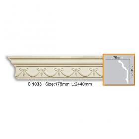 Потолочный Плинтус С Рисунком Fabello Decor С 1033 Д244хВ16хТ7.6 см / Фабелло Декор