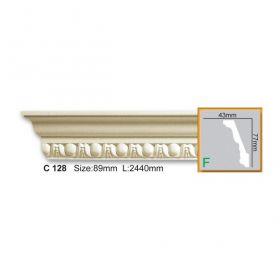 Потолочный Плинтус С Рисунком Fabello Decor С 128 Д244хВ7.7хТ4.3 см / Фабелло Декор
