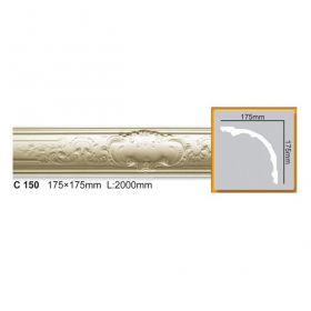 Потолочный Плинтус С Рисунком Fabello Decor С 150 Д244хВ17.5хТ17.5 см / Фабелло Декор