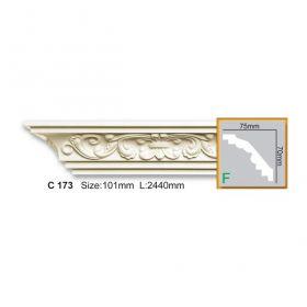 Потолочный Плинтус С Рисунком Fabello Decor С 173 Д244хВ7хТ7.5 см / Фабелло Декор