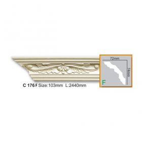 Потолочный Плинтус С Рисунком Fabello Decor С 176 Flex Д244хВ7.4хТ7.2 см / Фабелло Декор