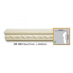 Молдинг Гладкий Fabello Decor CR155 Flex Д200хВ8,1хТ2 см / Фабелло Декор
