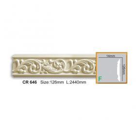 Молдинг Гладкий Fabello Decor CR646 Д244хВ12,6хТ1 см / Фабелло Декор