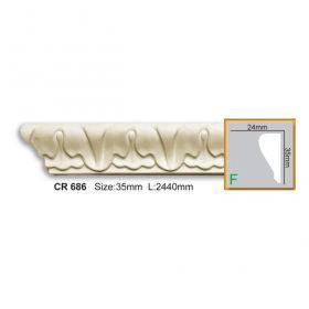 Молдинг С Рисунком Fabello Decor CR686 Д244хВ3,5хТ2 см / Фабелло Декор