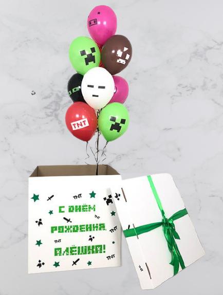 Коробка с шарами Майнкрафт