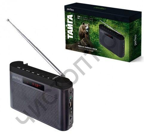 Колонка универс.с радио Perfeo ТАЙГА FM+ 66-108МГц/ MP3/ встроенный аккум,USB/ серый (I70GR)