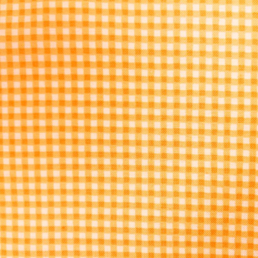 фото Ткань Мелкая клетка MAKOWER UK Великобритания отрез 50 см х 55 см  920 желтый