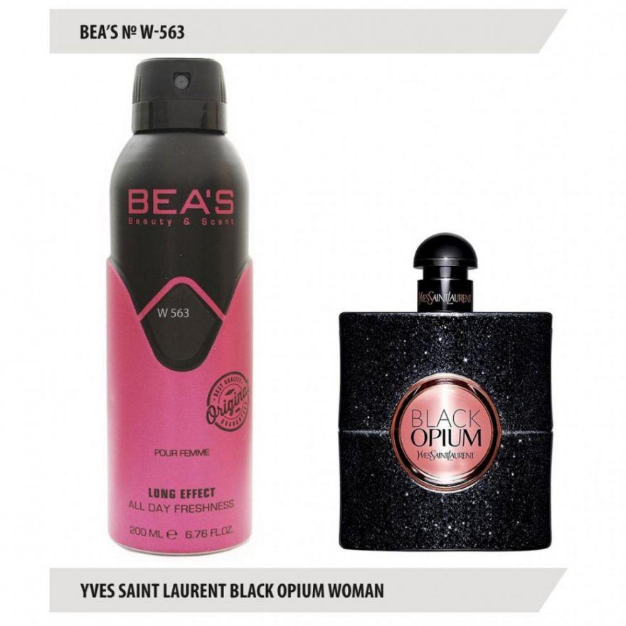 Дезодорант BEA'S W 563 - YSL Black Opium For Women 200мл