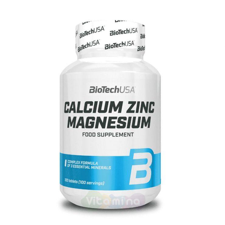 BIOTECHUSA Кальций, цинк и магний Calcium Zinc Magnesium, 100 таб