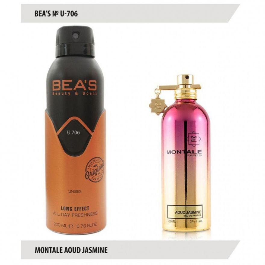 Дезодорант BEA'S U 706- Montale Aoud Jasmine 200 мл