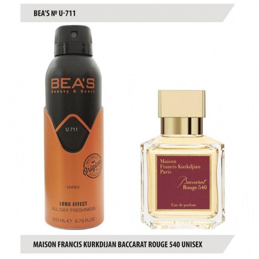 Дезодорант BEA'S U 711 - Maison Francis Kurkdjian Baccarat Rouge 540 Unisex 200мл