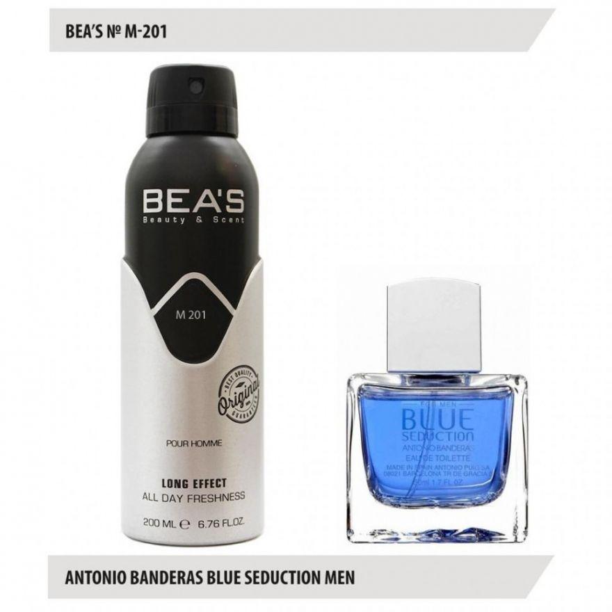 Дезодорант BEA'S M 201 - Antonio Banderas Blue Seduction For Men 200мл