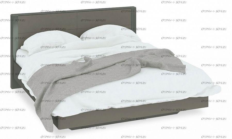 Кровать Наоми СМ-208.01.01 (160х200) Фон серый, Джут