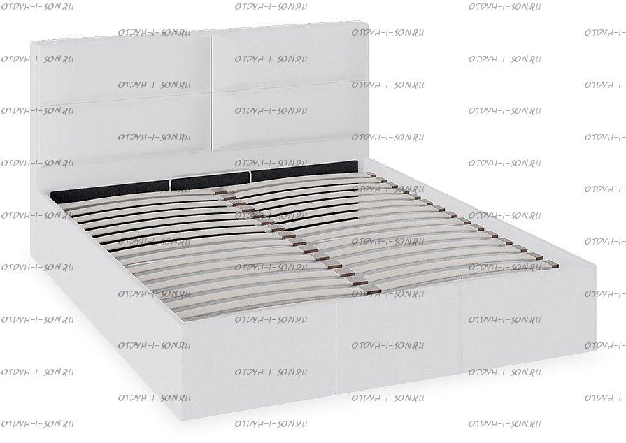 Кровать Глосс ТД 319.01.02 (160) с подъемным механизмом с мягкой обивкой тип 1 Белая
