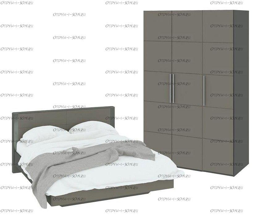Спальный гарнитур стандартный набор Наоми ГН-208.000 Фон серый, Джут