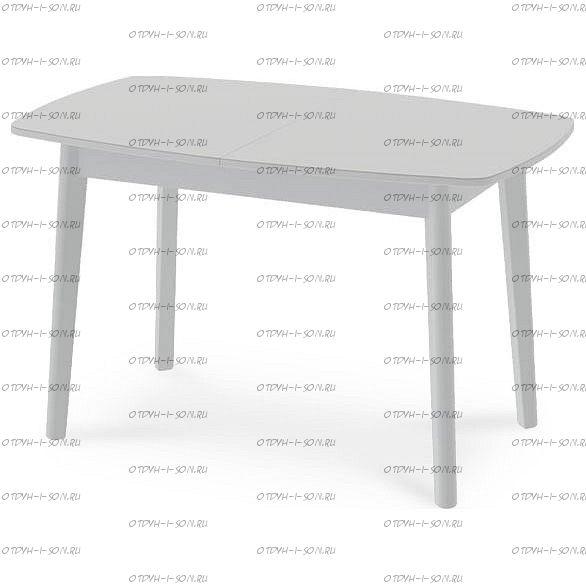 Стол обеденный Портофино СМ(ТД)-105.02.11(3) (1300 4 ноги) Белый глянец/Стекло белое