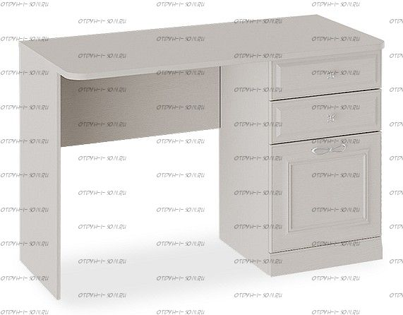 Стол с ящиками с опорой Сабрина СМ-307.15.002-01 Кашемир