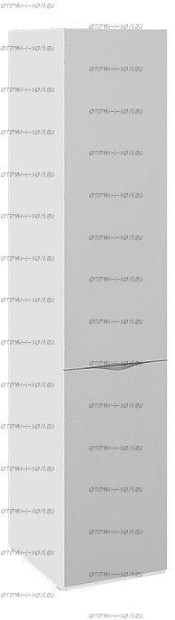 Шкаф для белья с зеркальной дверью Глосс СМ-319.07.112 Белый глянец