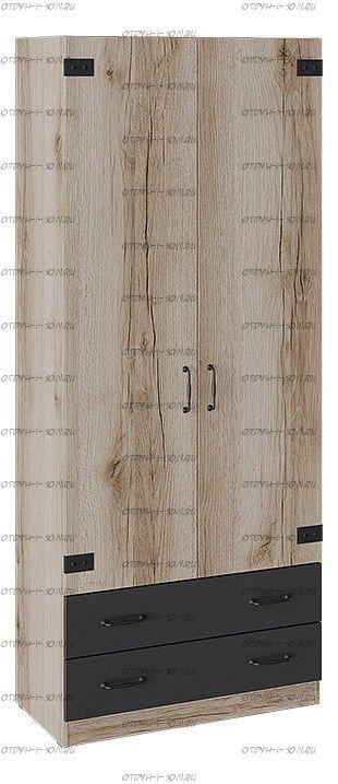 Шкаф для одежды комбинированный Окланд ТД-324.07.22 Фон Черный/Дуб Делано