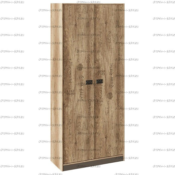 Шкаф для одежды Пилигрим ТД-276.07.22 Дуб Каньон светлый, Фон серый