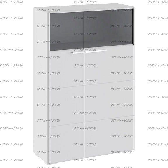 Шкаф комбинированный Наоми ТД-208.07.29 с 2 дверями Белый глянец