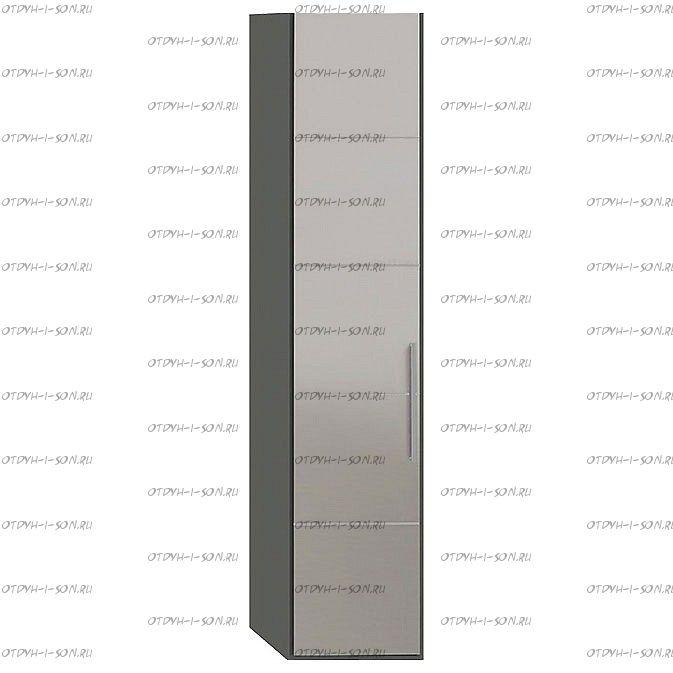 Шкаф торцевой Наоми СМ-208.07.09 с 1 зеркальной дверью L Фон серый, Джут