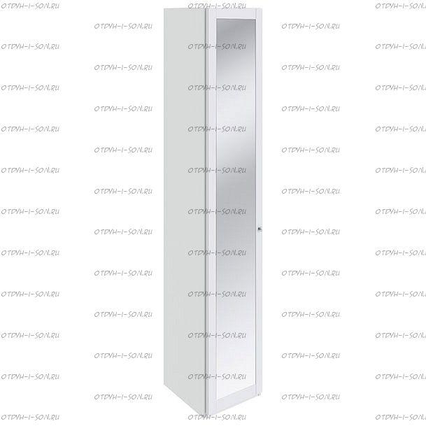 Шкаф торцевой Ривьера СМ 241.07.004 с 1-й дверью с зеркалом Белый