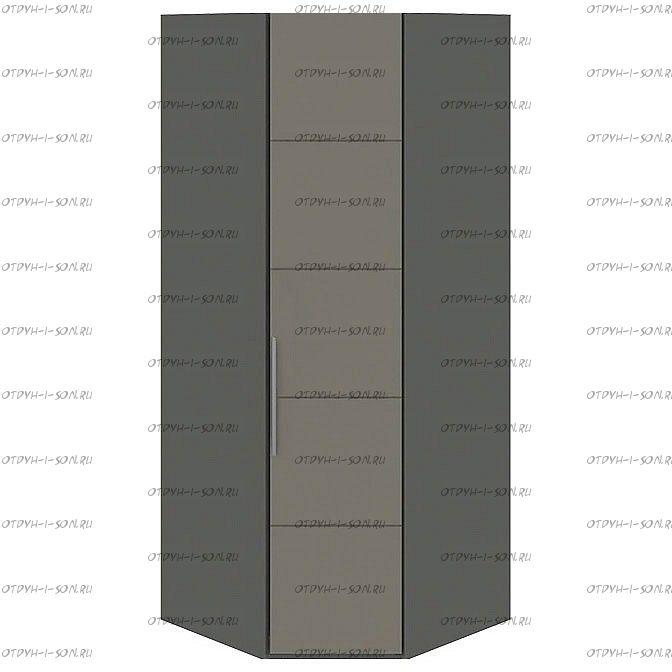 Шкаф угловой Наоми СМ-208.07.06 с 1 дверью R (Фон серый, Джут)