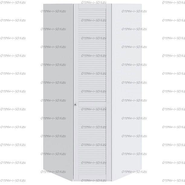 Шкаф угловой Ривьера СМ 241.07.003 R с 1-й дверью Белый